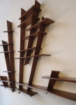 Mahogany shelves