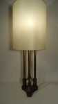 gilded metal table lamp