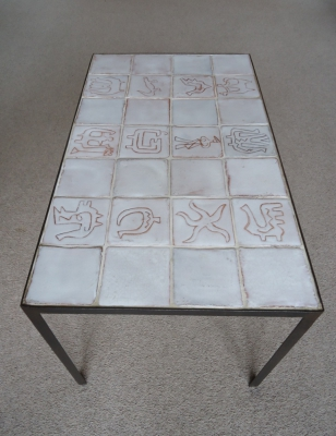 Tile and iron table