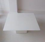 white painted metal occasional table