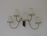 Pair of 5 arm wall lights