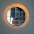 Pair of illuminating perspex mirrors