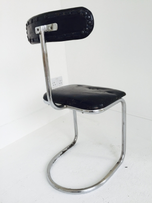 chrome modernist chair