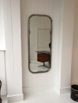 chrome framed wall mirror