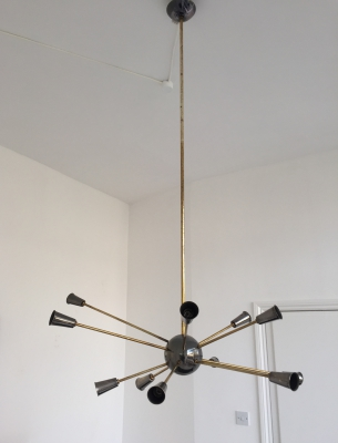 French Sputnik ceiling light