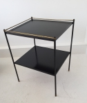Black and gilt metal side table