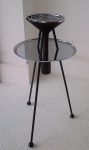 Tripod table flower vase