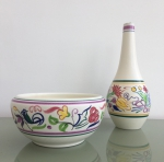 Poole pottery bowl and vase